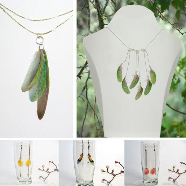 Bijoux Oiseau Du Soir : plumes élégantes