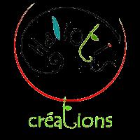 Le nom de la marque , Haliotis, est intégré dans une silhouette de coquillage incluse dans une fleur. Le mot créations est le pied de la fleur