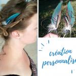 commande personnalisée : un bijou de cheveux avec des lumes bleues