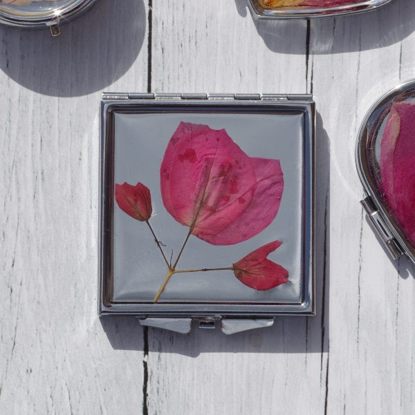 Miroirs de sac (décor végétal)